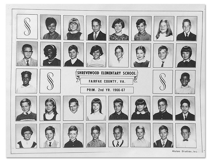 Shrevewood Elementary School Yearbook Page, 1966 to 1967 school year, showing Mrs. Mary Ann Chung's 2nd Grade Class